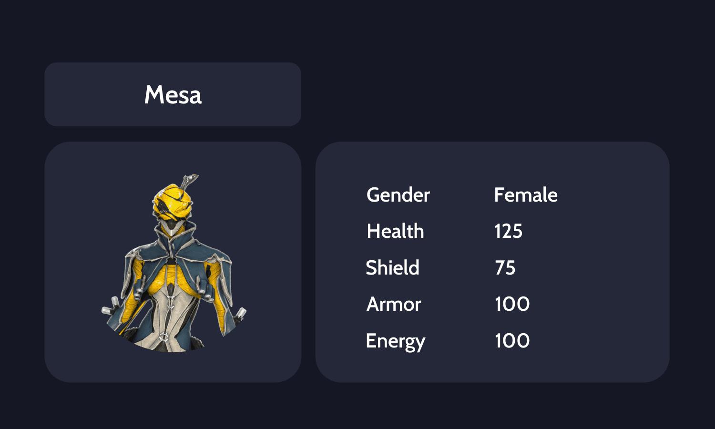 Mesa info card