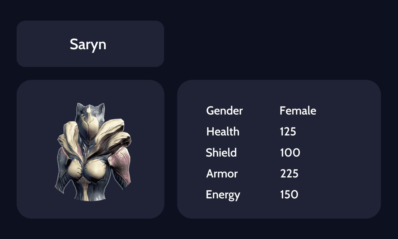 Saryn info card