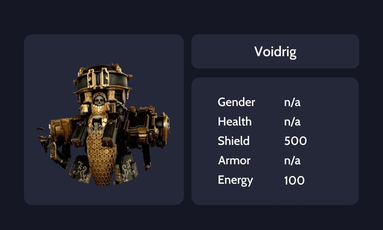 Voidrig Info Card