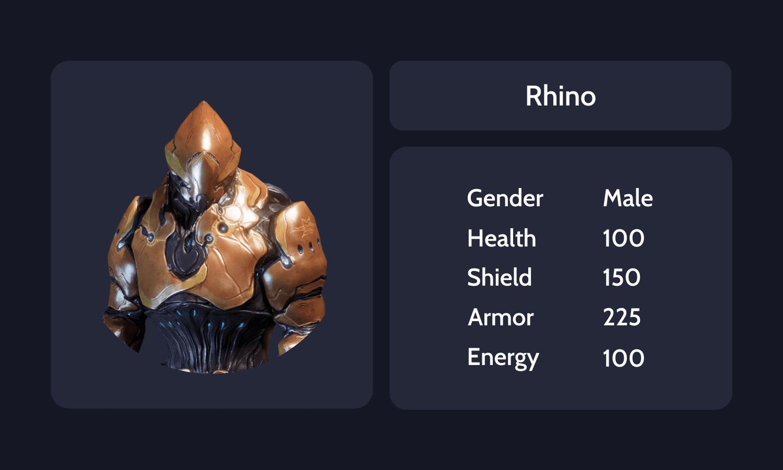 Rhino info card
