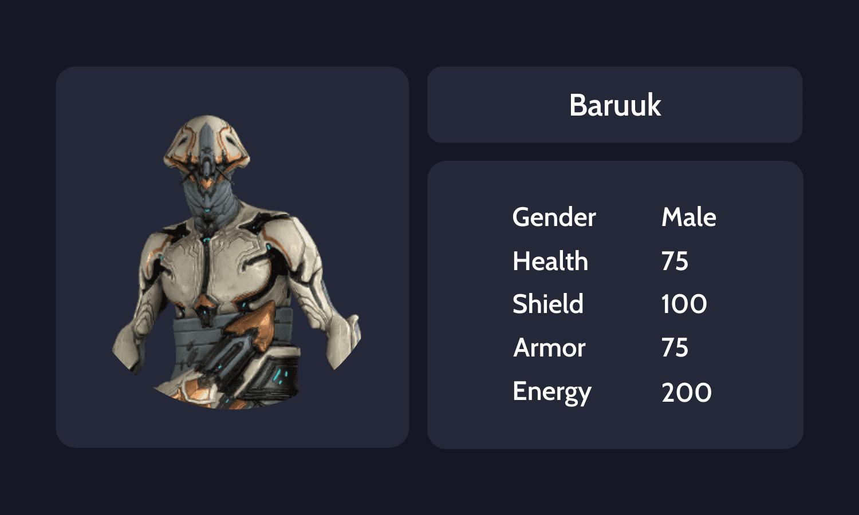 Baruuk info card