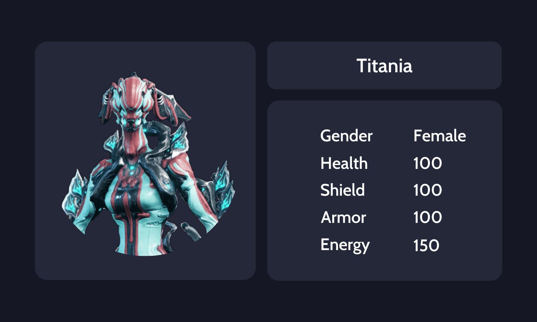 Titania info card