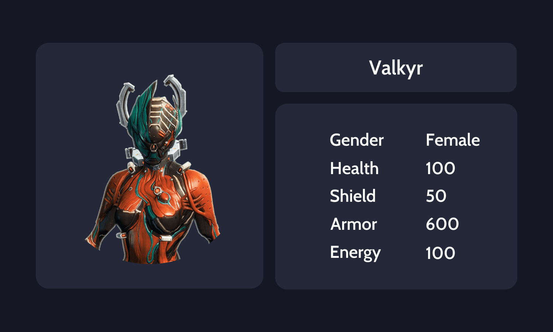 Valkyr Info Card