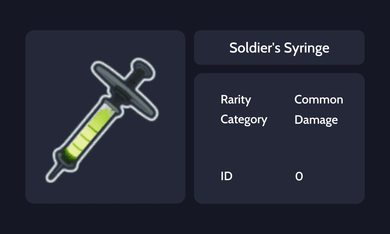 Soldier's Syringe Info Card