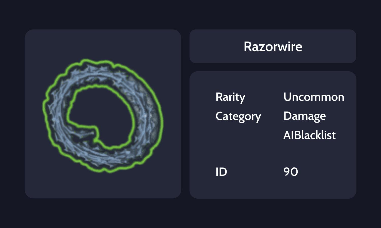 Razorwire Info Card