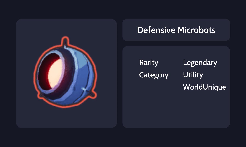 Defensive Microbots Info Card