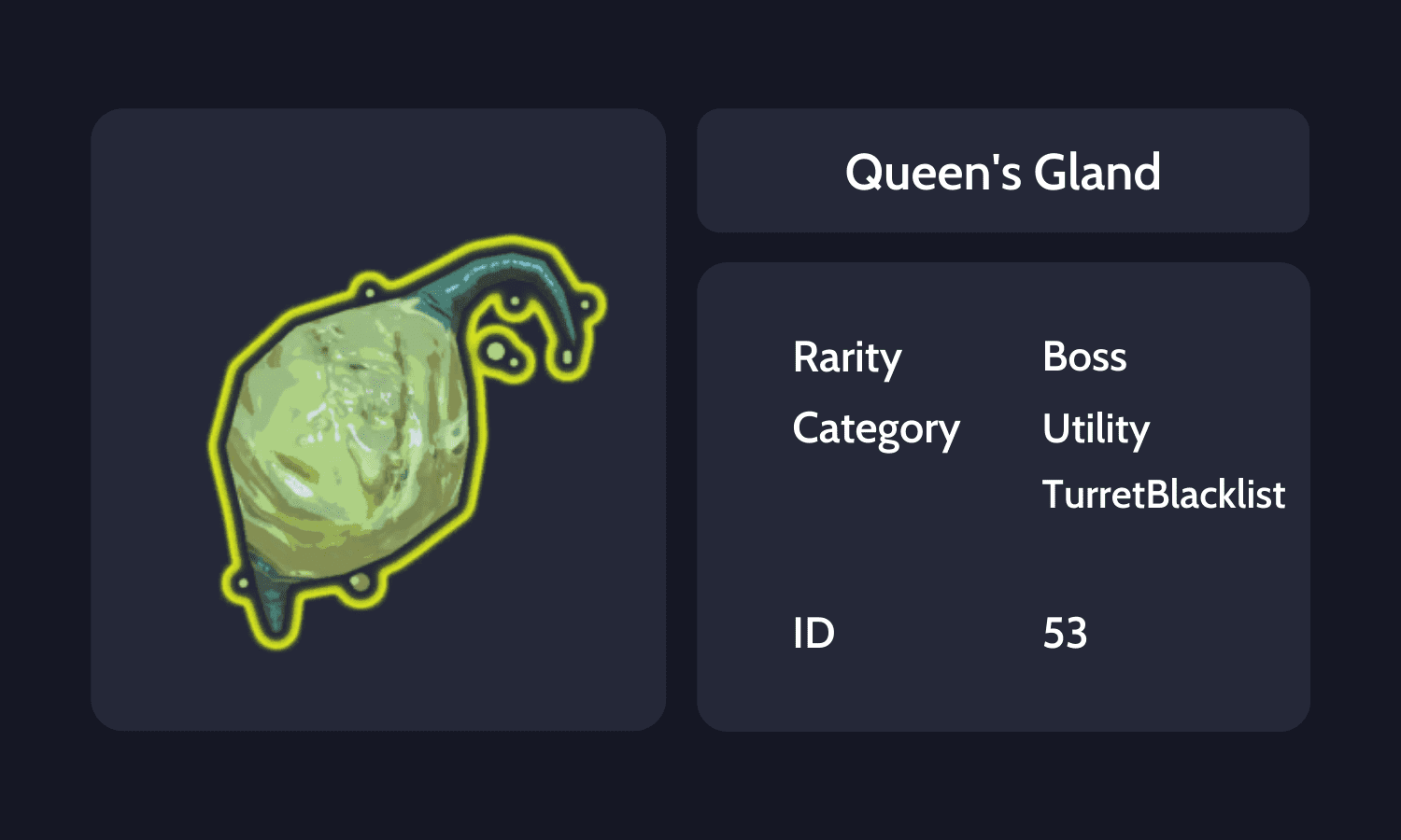 Queen's Gland Info Card