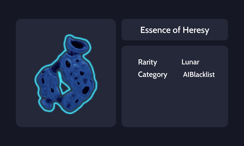 Essence of Heresy Info C