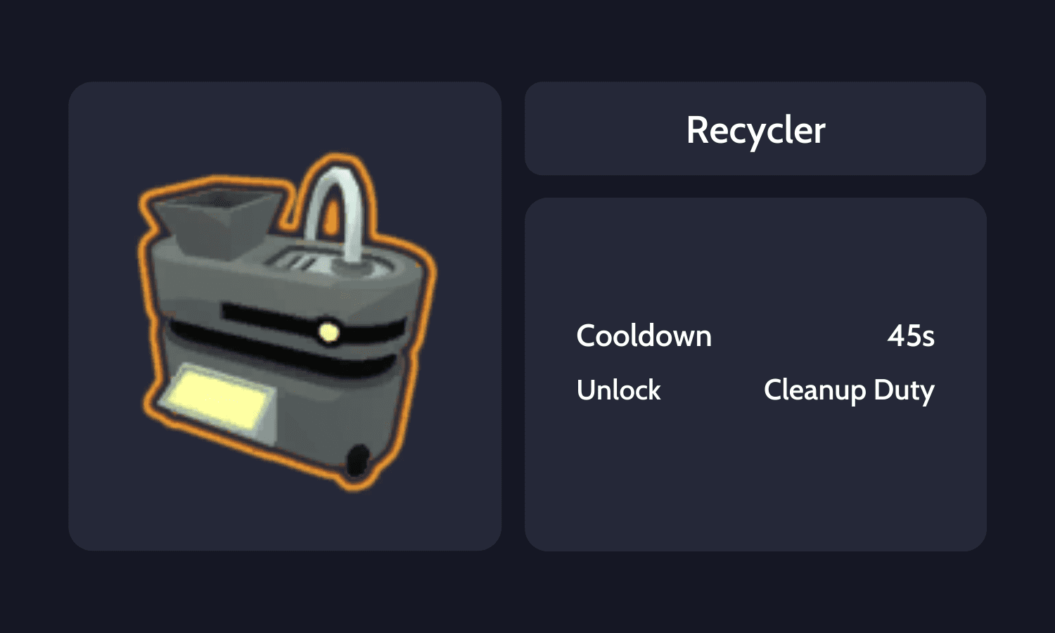 Recycler Info Card
