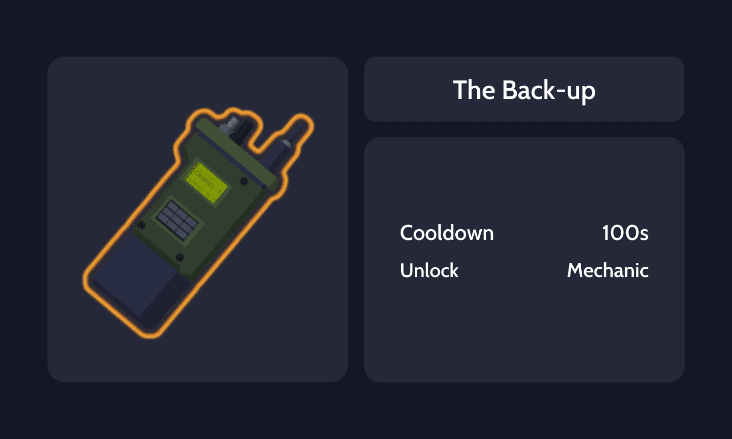 The Back-up Info Card
