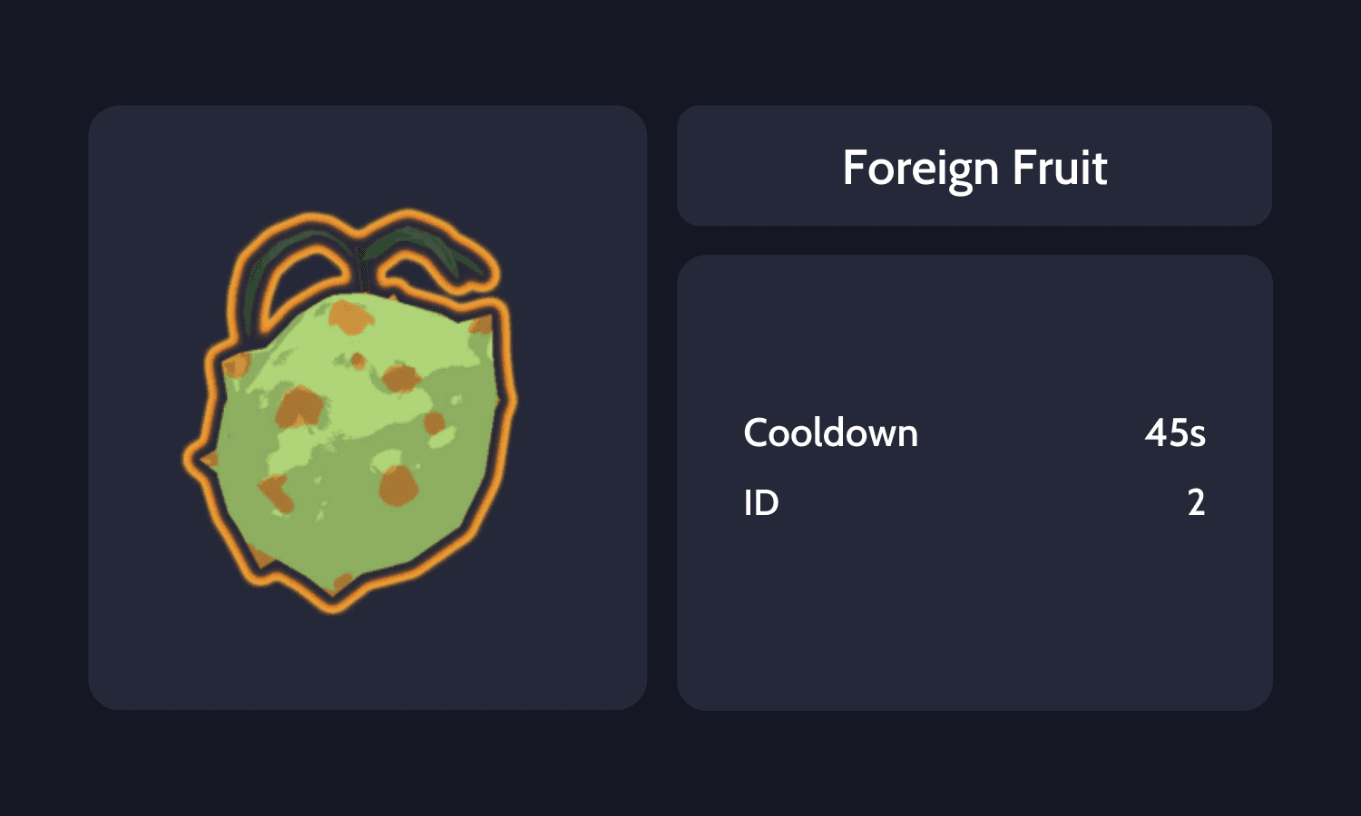 Foreign Fruit Info Card