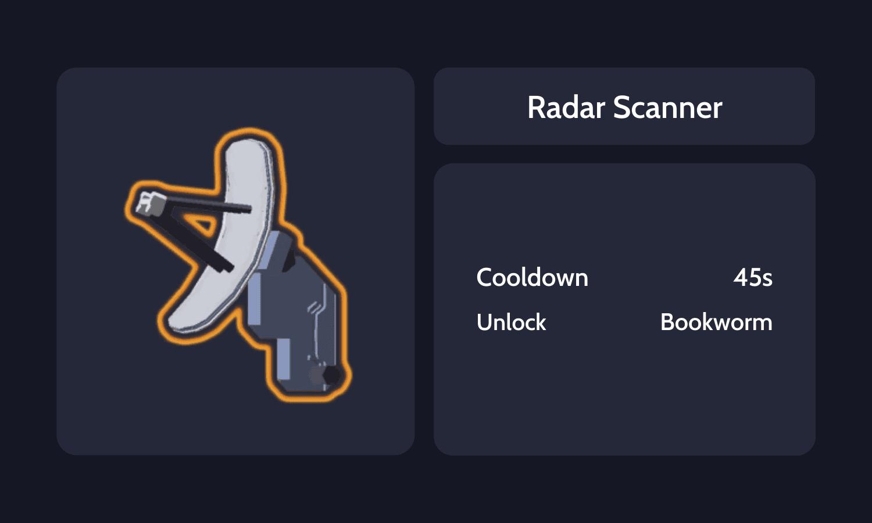 Radar Scanner Info Card