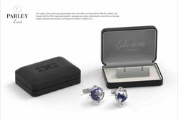 Special Cufflink Box Design and spinning globe cufflinks
