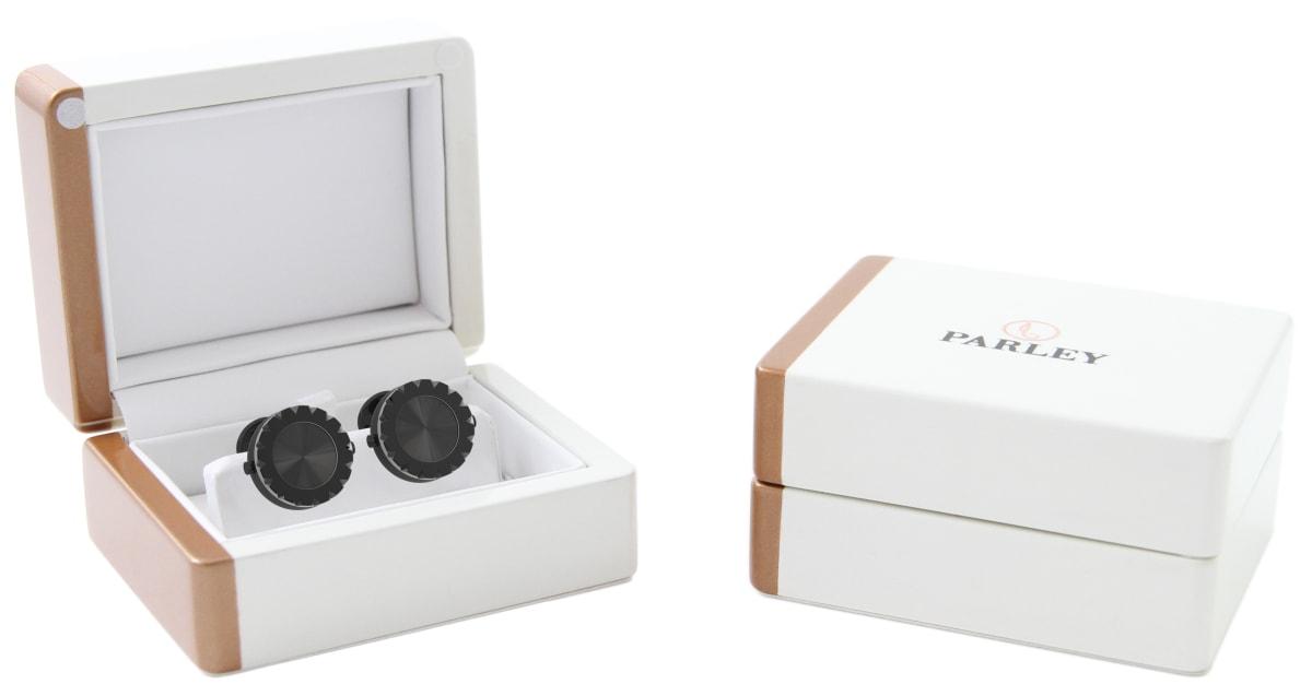 Black PVD Triangulum Bezel Watchlinks with Black Sunburst Inlay