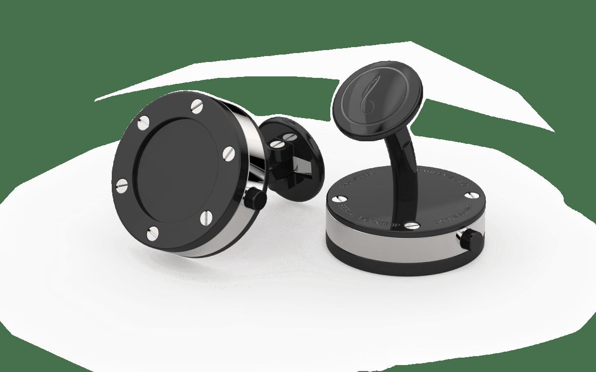 Black PVD Top Screw Bezel Watchlinks with Onyx Stone Inlay