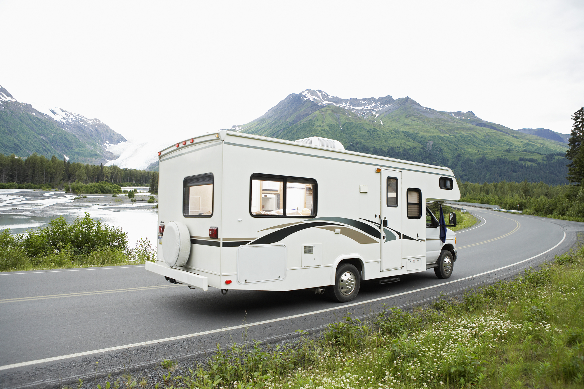 Motorhome driving on road