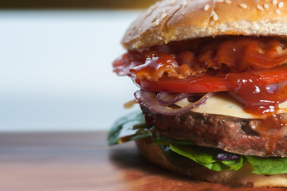 Burger With Ham Ketchup