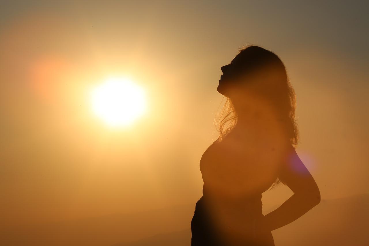 pregnant woman in sunshine