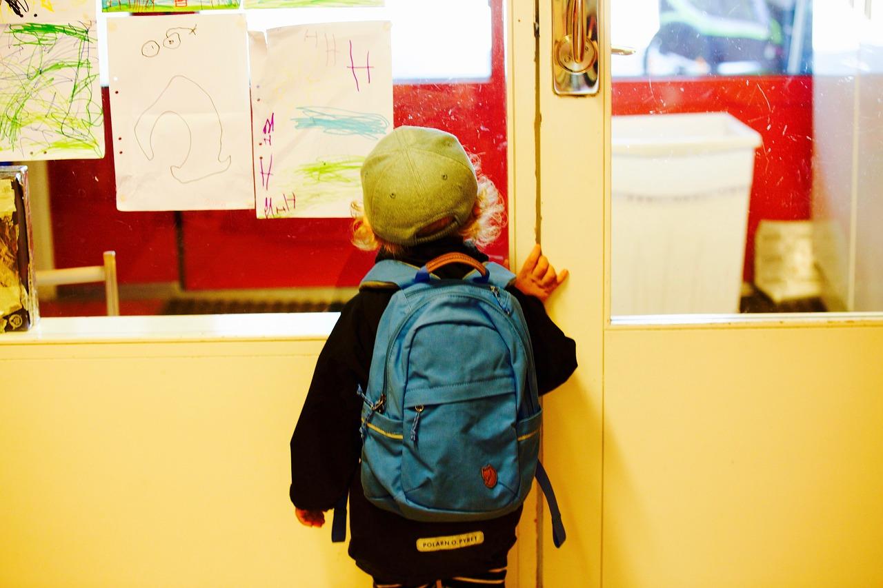 child at school