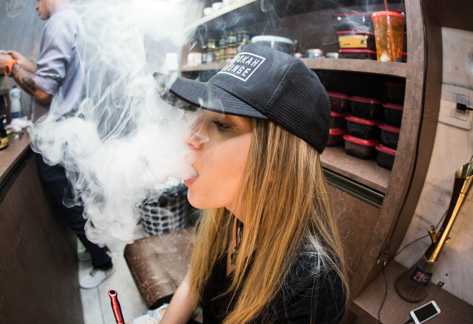 young person vaping