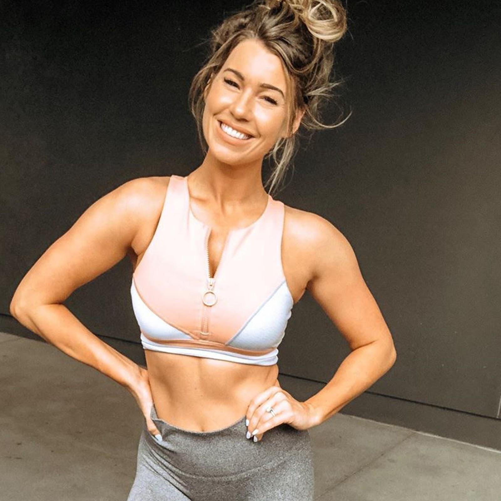 Fitness trainer Anna Victoria