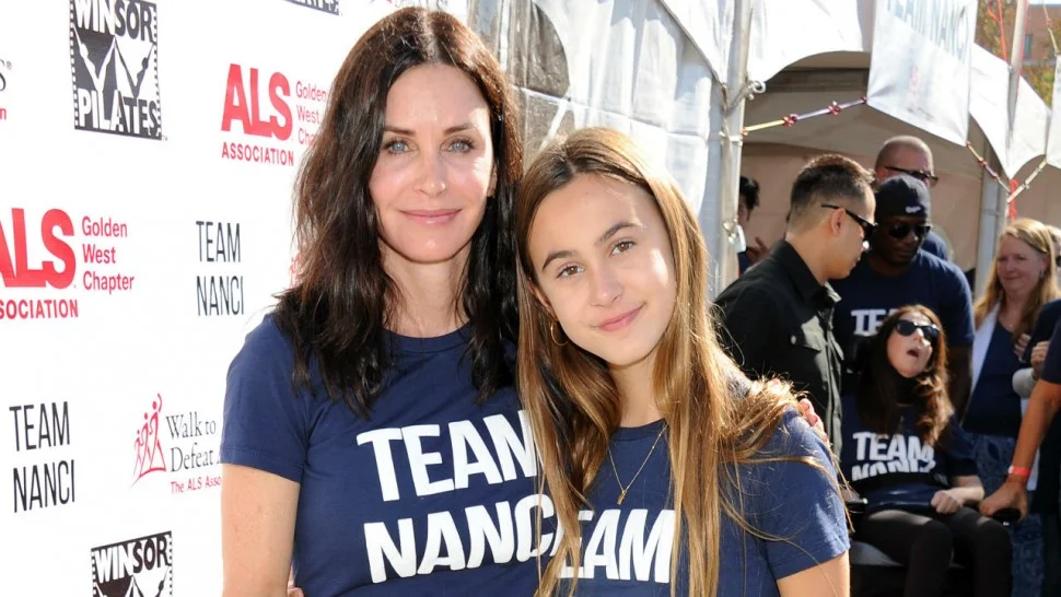 Courteney Cox with her daughter, Coco