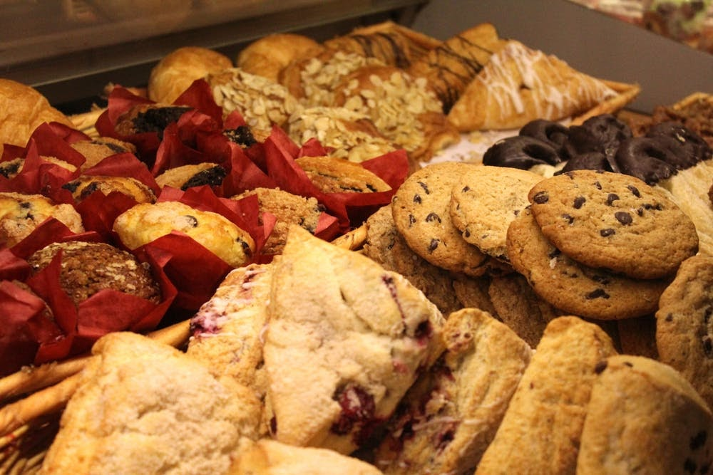 Different baked goods such as bread, muffins, scones and cookies