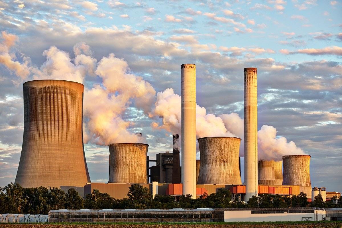 industrial complex emitting large amounts of smoke