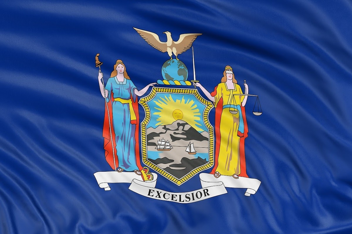 the New York State flag