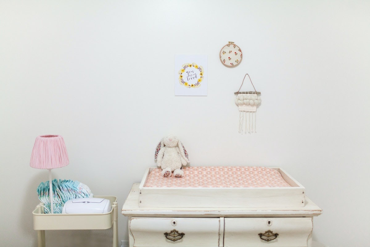 a baby's changing table