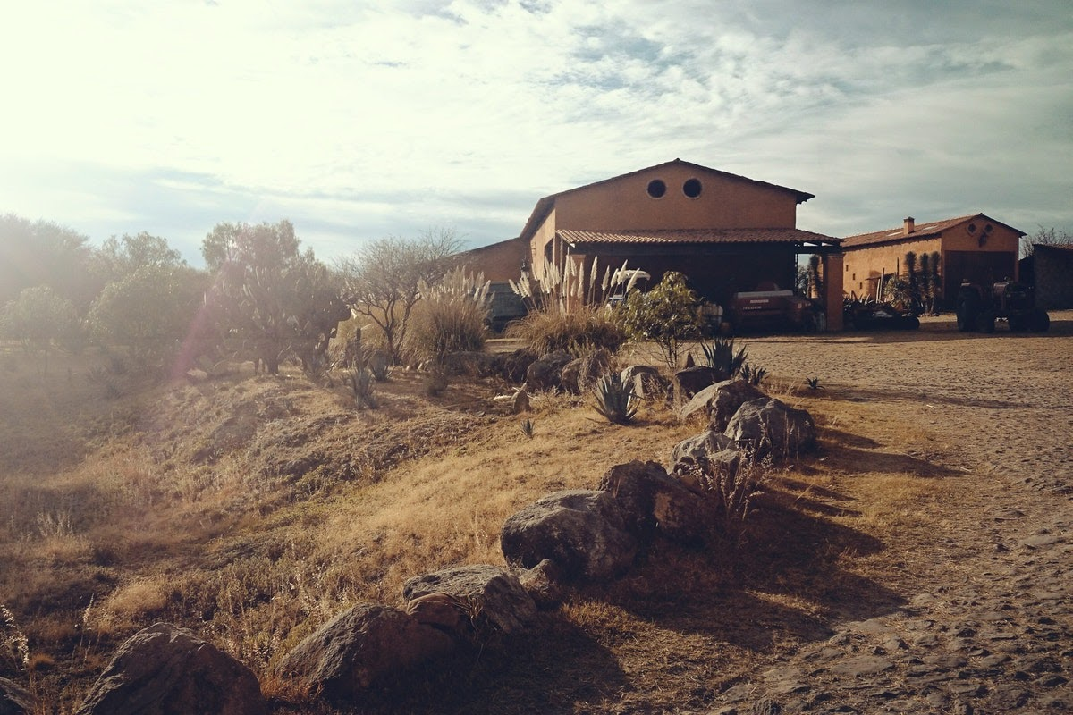 a house in the American Southwest