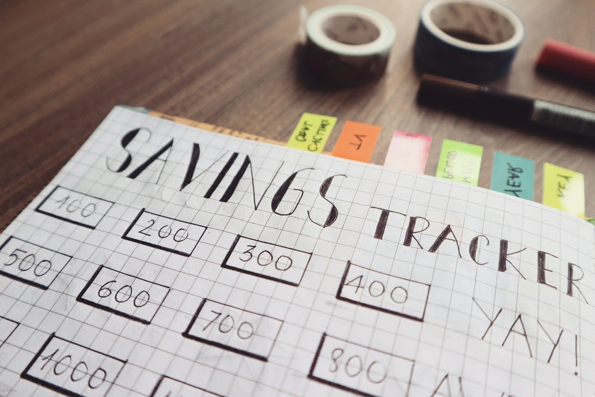 a savings tracker spreadsheet
