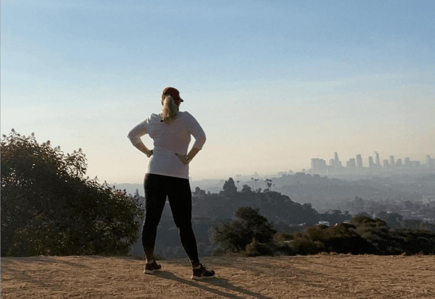 Rebel standing on mountain