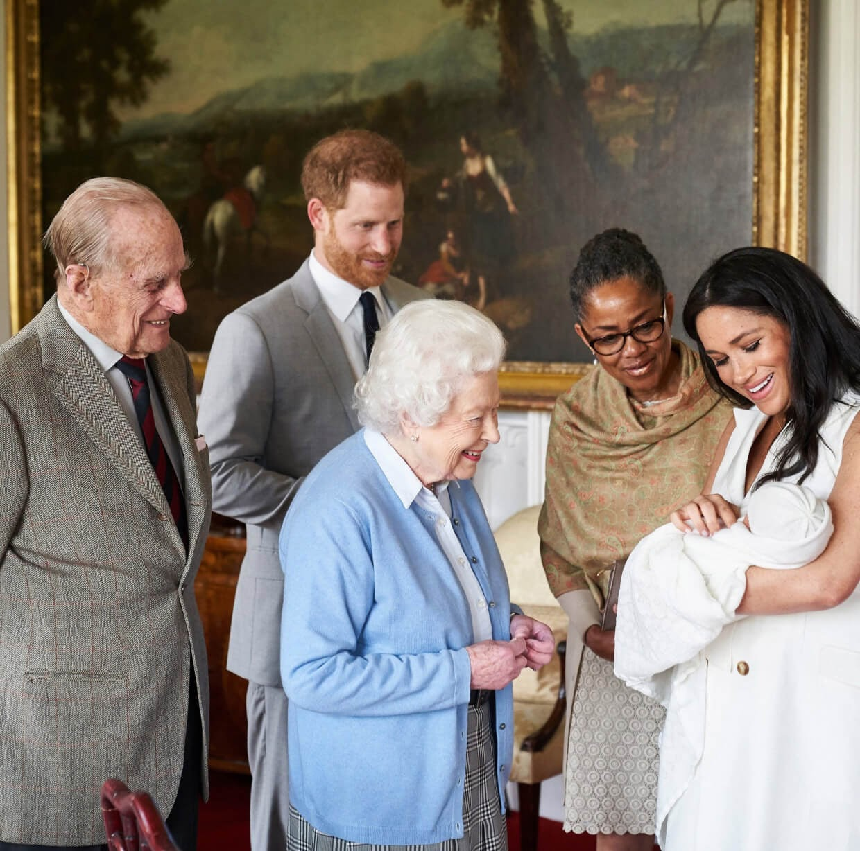 Royal family meeting Archie