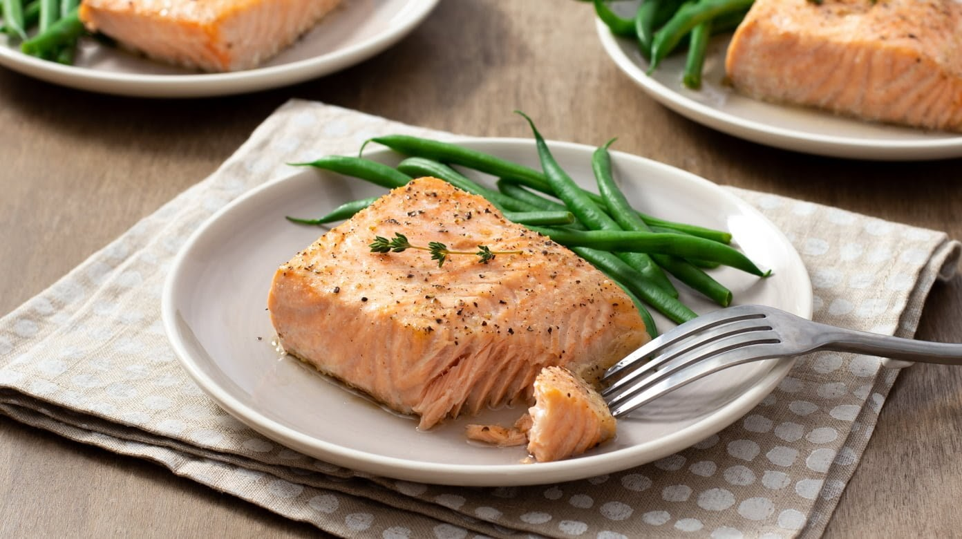 Fatty fish like salmon are especially healthy for you while pregnant, as salmon is high in omega-3 fatty acids. Image courtesy of cookthestory.com.