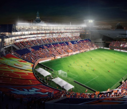 A stadium designed by MSA Architects