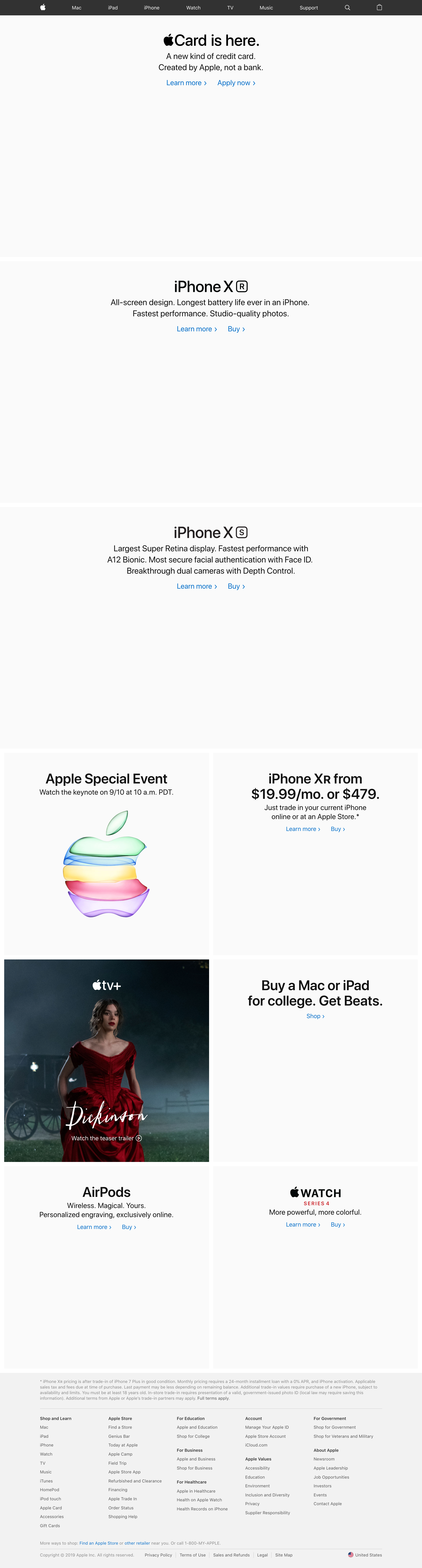 Apple.com (without product images)