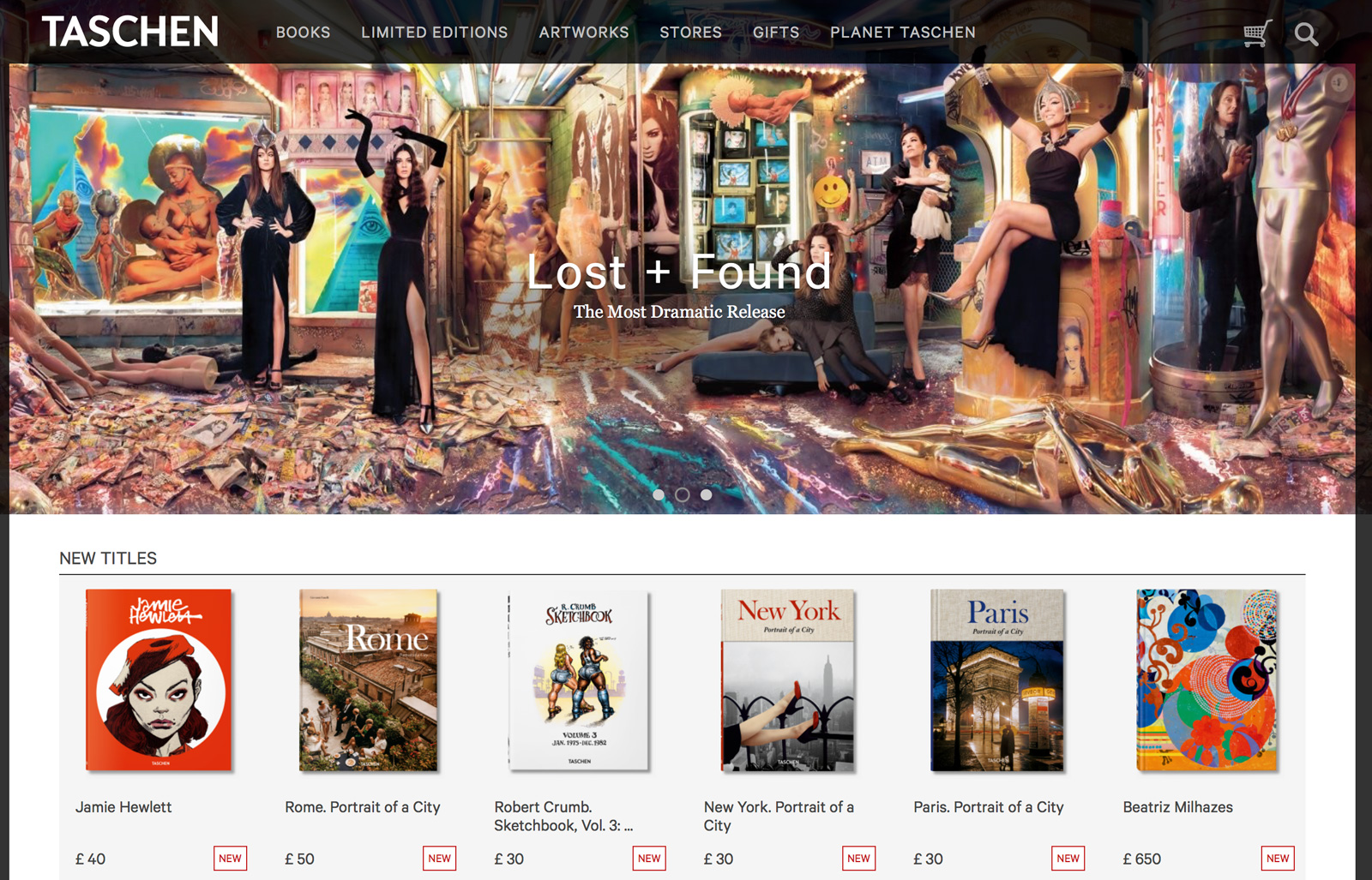 Taschen's beautiful website now boasts a full Supadu eCommerce cart solution, with Ingram distribution and fulfillment