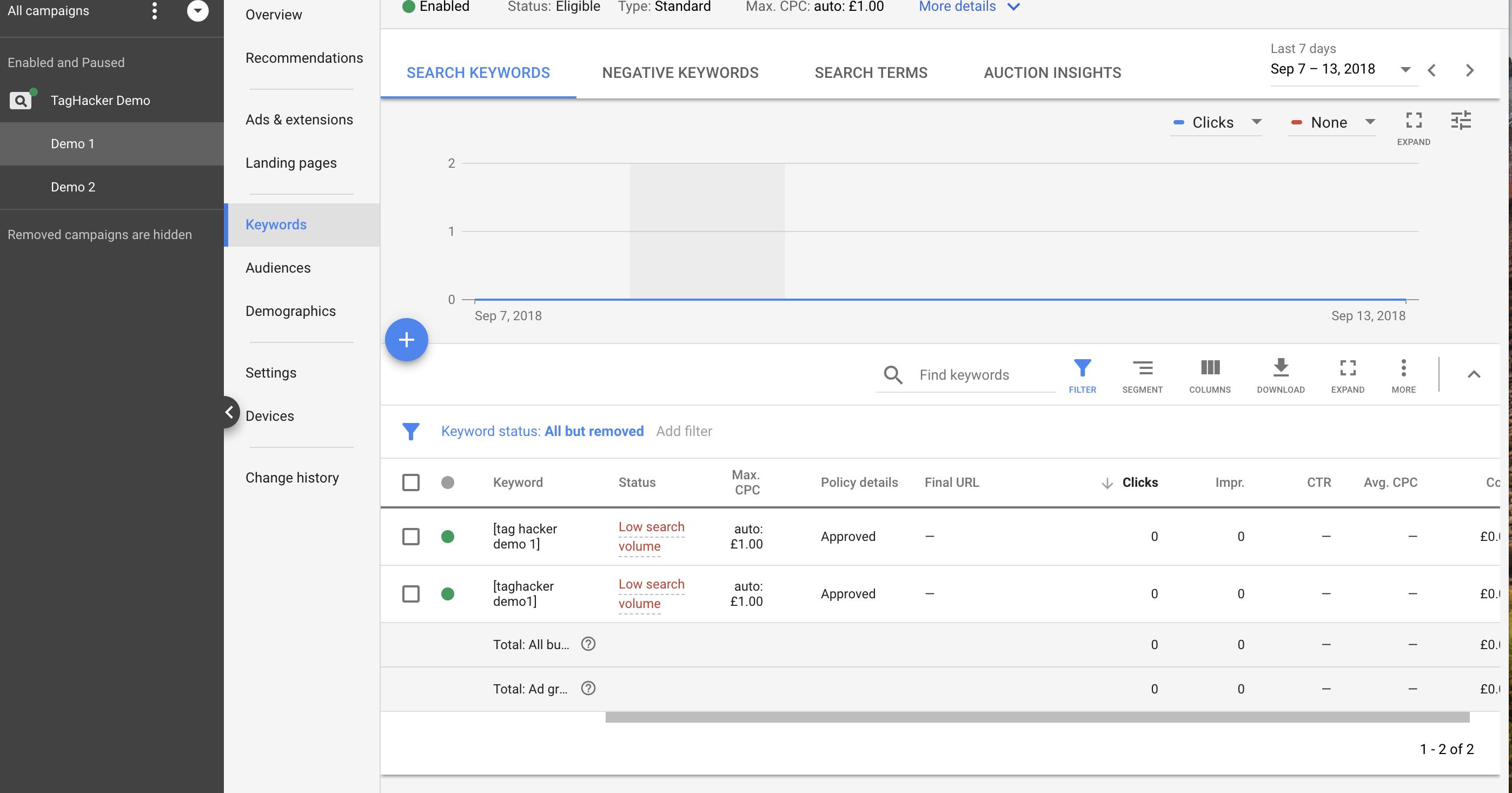 Google Ads Demo Campaign