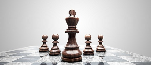 Strategic chess pieces representing business straregy that is the focus of any client