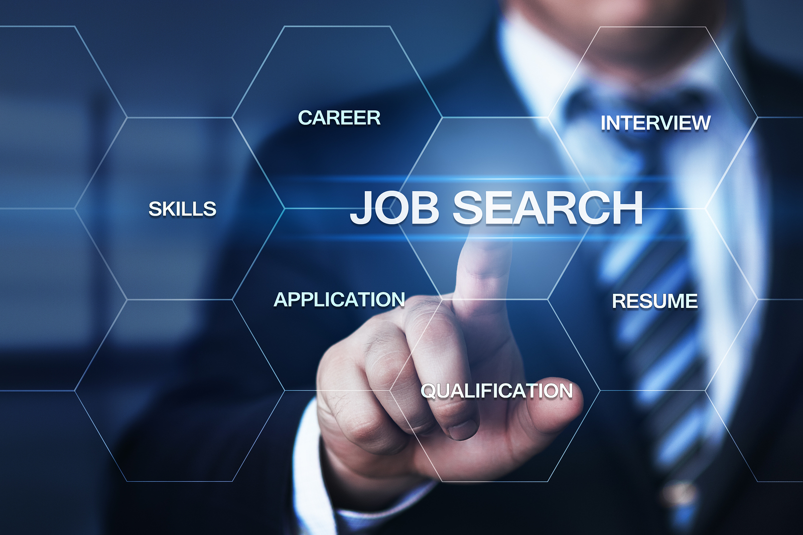abstract photo denoting a professional engaged in a job search