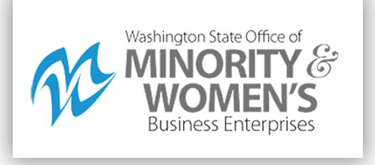 Logo image for 'The Office of Minority and Women's Business Enterprises' is charged with certifying small, minority and women-owned businesses to facilitate their participation in public contracting and procurement