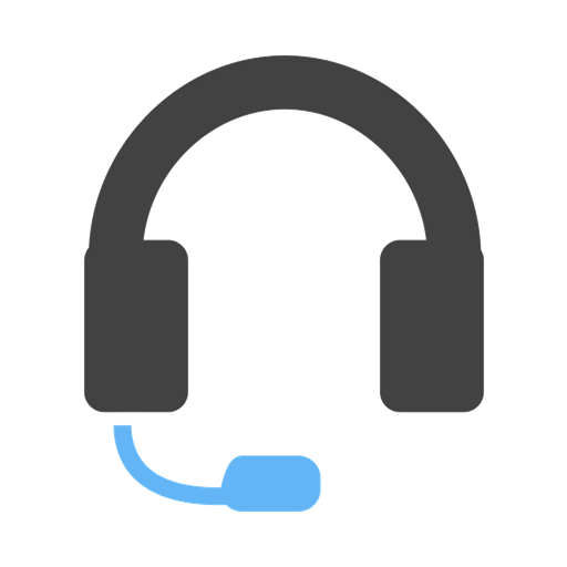 headphone with mic depicting a customer support individual