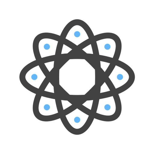 atom icon depicting data management