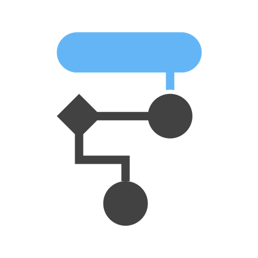 flow diagram icon depicting the interplay and arrangement of systems