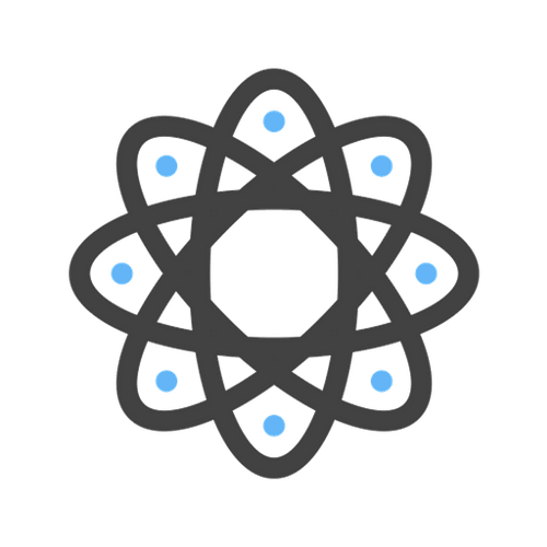 atom icon depicting data management