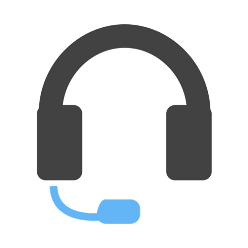 headphone with mic depicting a customer support