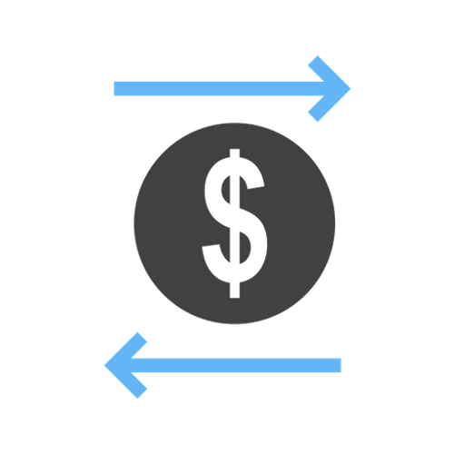 dollar sign depicting the flow of money through organization