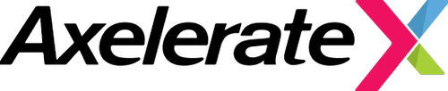Axelerate's multi-colored logo