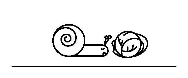 Illustrazione alimentazione lumaca